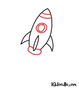 doodling rocket