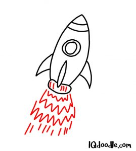 how to doodle a rocket