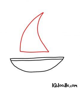 drawing a sailboat