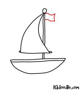 doodle a sailboat