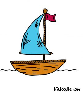 how to doodle a sailboat