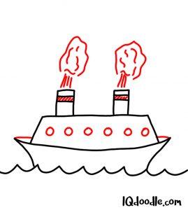 doodle a ship