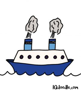 how to doodle a ship