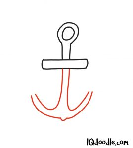 doodling an anchor