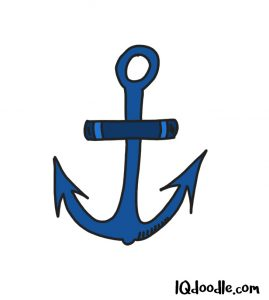 how to doodle an anchor