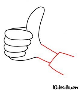 doodle thumbs up