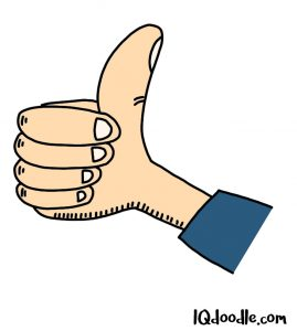 how to doodle thumbs up