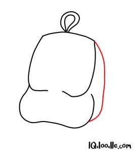 doodling a backpack