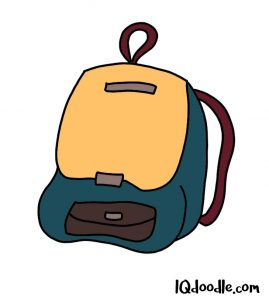 how to doodle a backpack