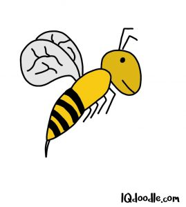 how to doodle a bee