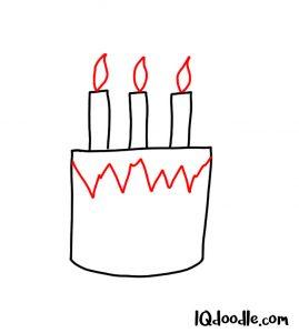 doodling a birthday cake