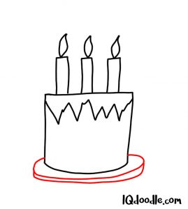 doodle a birthday cake
