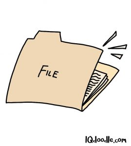 How to doodle a file folder
