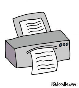 how to doodle a printer