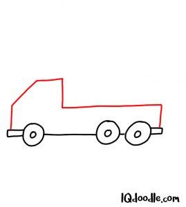 doodling a truck