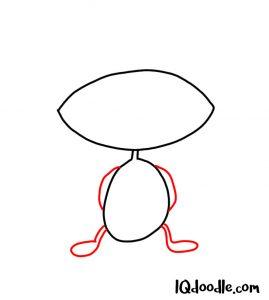 doodling an alien