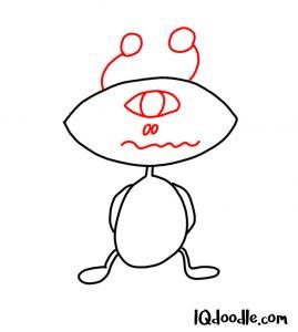 doodle an alien