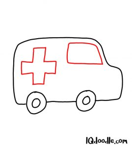 doodling an ambulance