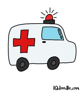 how to doodle an ambulance