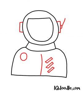 doodle an astronaut
