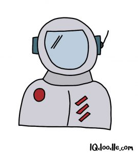 how to doodle an astronaut