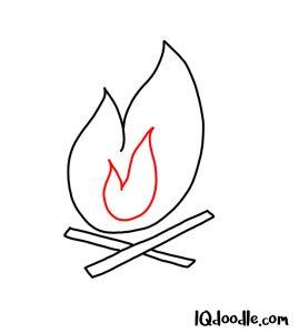 doodle a campfire