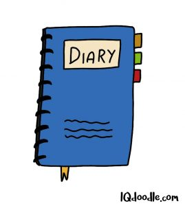 how to doodle a diary