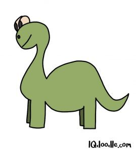 how to doodle a dinosaur