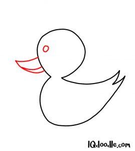 doodling a duck