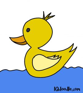 how to doodle a duck