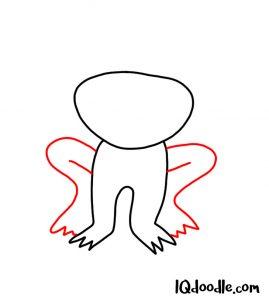 doodling a frog