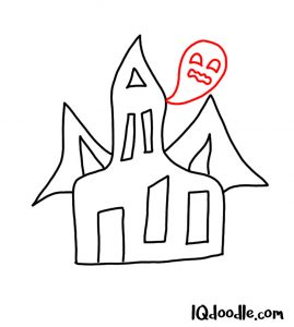 doodle a haunted house