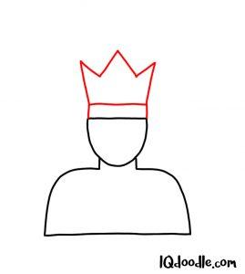 doodling a king