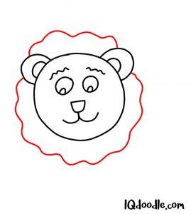 doodling a lion