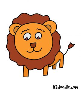 how to doodle a lion