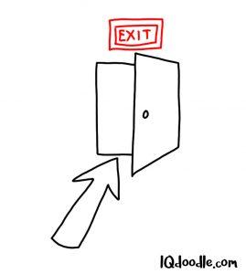 doodle leaving