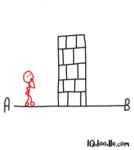 doodling an obstacle