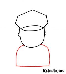 doodling an officer