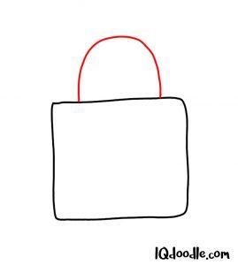 drawing a padlock