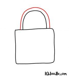 doodling a padlock