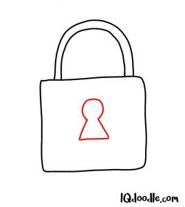doodle a padlock
