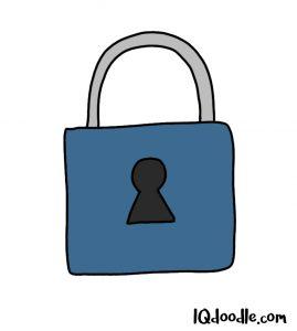 how to doodle a padlock