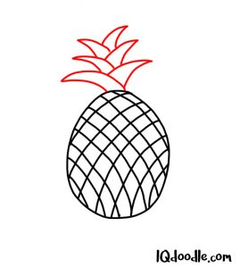 doodle a pineapple