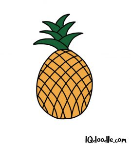 how to doodle a pineapple