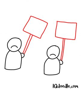 doodling a protest