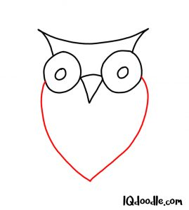 doodling an owl