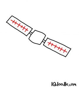 doodling a satellite