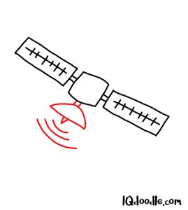 doodle a satellite