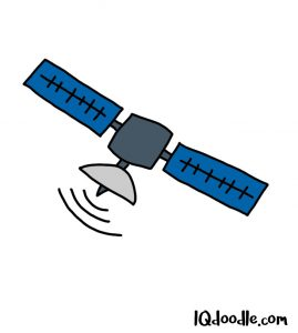 how to doodle a satellite