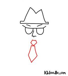 doodling a spy